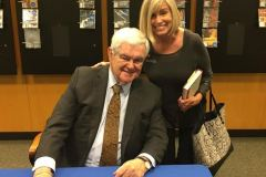 Nancy Meade Cotton with Newt Gingrich